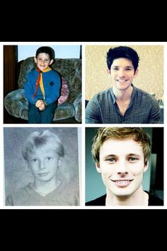 Colin Morgan and Bradley James.
