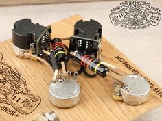 Arty's Custom Guitars Les Paul coil splitting prewired Harness Assembly Kit wiring Gibson Bumble Bee Black Beauty Guitar Pickups, Audio, Gibson Les Paul, Custom Guitars, Usb Flash Drive, Two By Two, Bee, Black Beauty, Musical Instruments