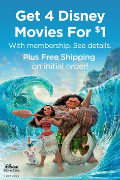 Set sail for adventure with action-packed family favorites delivered right to your door. Get 4 movies for $1 with membership. Plus free shipping on initial order. See details.