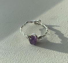Wire Jewelry Rings, Handmade Wire Jewelry, Cute Jewelry, Crystal Jewelry, Crystal Ring, Handmade Rings, Hippie Jewelry, Wire Wrapping Crystals, Diy Rings