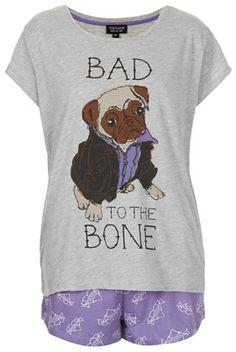 Bad Pug Pyjama Set - Lingerie & Nightwear  - Clothing