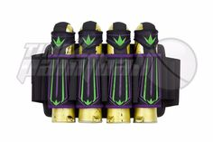 BUNKER KINGS 47 Pod Pack - Purple / Lime Paintball Harness BNKR Supreme