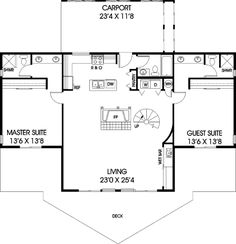 COOL house plans offers a unique variety of professionally designed home plans with floor plans by accredited home designers. Styles include country house plans, colonial, Victorian, European, and ranch. A Frame House Plans, 2 Bedroom House Plans, Cabin Floor Plans, Best House Plans, Country House Plans, Dream House Plans, Small House Plans, Small Floor Plans, The Plan