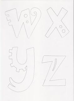 Molde de letras | RECREAR - MANUALIDADES - ARTE Block Letter Fonts, Block Lettering, Hand Lettering, Bubble Letters, 3d Letters, Art Du Monde, Calligraphy Tutorial, Patch Aplique, Letter Templates