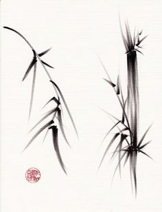 TAO....Original ink brush sumi-e bamboo Chinese by BeccasPlace