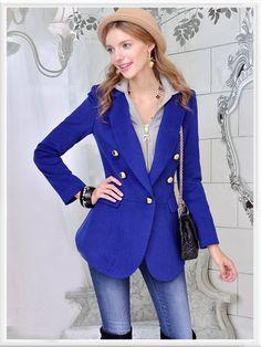 Morpheus Boutique  - Blue Double Breasted Wool Jacket Coat, CA$123.06 (http://www.morpheusboutique.com/blue-double-breasted-wool-jacket-coat/)
