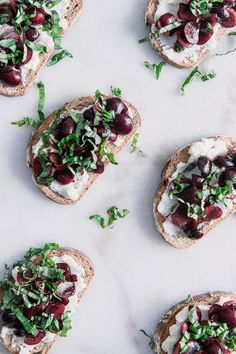 Take your breakfast next level with this black cherry basil ricotta toast. Basil marinated black cherries on vanilla ricotta toast. I'll brunch to that! #toast #cherries #basil #breakfast #ricotta