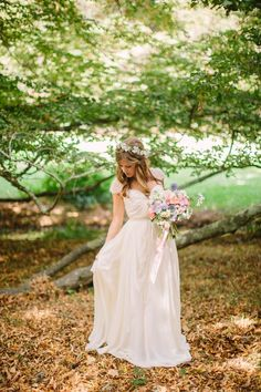 Wedding Gown by #SarahSeven | See the wedding on #SMP Weddings ~ http://www.stylemepretty.com/2013/12/12/oakland-california-wedding/  Danielle Capito Photography