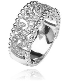 Sterling Silver ring with 0.35 diamond #VahanPinterest