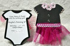 Ballerina Onesie Card