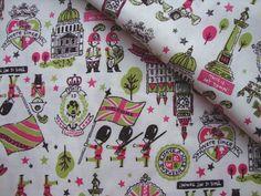 Japanese Fabric Cotton - My London - Fat Quarter. $4.00, via Etsy.