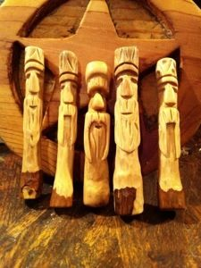 Hand Carved Mustache Man pipe tamper Click here for purchase http://codyhuey.com/products-page