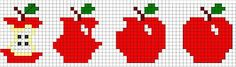 Esquemas da Ricas Prendas free cross stitch chart quick to stitch and so cute Cross Stitch Fruit, Cross Stitch Kitchen, Mini Cross Stitch, Simple Cross Stitch, Free Cross Stitch Charts, Cross Stitch Bookmarks, Cross Stitch Boards, Loom Beading, Beading Patterns