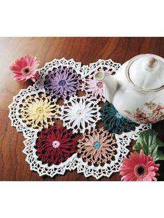 Crochet Doilies - Floral Doily Crochet Patterns - Gerbera Doily