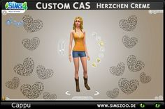 Blackys Sims 4 Zoo: Custom CAS heart cream by cappu • Sims 4 Downloads