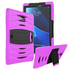 Galaxy Tab A 8.0 Case KIQ ™ Full-body Shock Proof Hybrid Heavy Duty Armor Protective Case for Samsung Galaxy Tab A 8.0 [SM-T350] with Kickstand and Screen Protector (Armor Hot Pink) #Galaxy #Case #Full #body #Shock #Proof #Hybrid #Heavy #Duty #Armor #Protective #Samsung #with #Kickstand #Screen #Protector #(Armor #Pink)