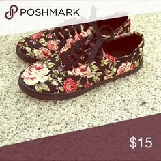 Selling this Floral van like shoes. Size 7 in my Poshmark closet! My username is: amalia_b_. #shopmycloset #poshmark #fashion #shopping #style #forsale #Vans #Shoes