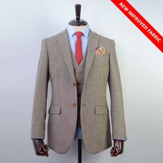 Made from our tweed wool & finished with a classic modern slim fit, this Army Green Herringbone Striped Tweed Suit is perfect for the Modern Gent Tweed Wedding Suits, Tweed Suits, Mens Suits, Tailored Suits, Army Green, Herringbone, Warm Weather, Suit Jacket, Blazer