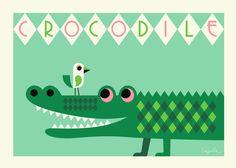 #Ingela #poster #krokodil 50x70 #Crocodile from www.kidsdinge.com www.facebook.com/pages/kidsdingecom-Origineel-speelgoed-hebbedingen-voor-hippe-kids/160122710686387?sk=wall http://instagram.com/kidsdinge