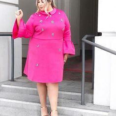 11 lovely plus size dress outfits for spring #plussize #outfit #dress