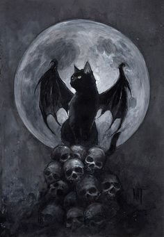 A Bat-Cat by artist Nat Jones. http://www.natjones.com/