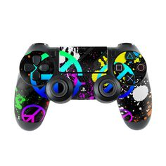 Sony PS4 Controller Skin - Unity by FP | DecalGirl Cool Ps4 Controllers, Game Controller, Control Ps4, Geek Games, Ps4 Games, Video Game Memes, New Video Games, Ps4 Skins, Video Game Console
