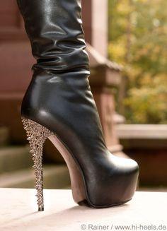 Fuss platform heels with *glam* heels
