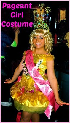 diy halloween costume pageant girl costume for adults - Pageant Girl Halloween Costume