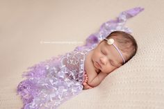 Lavender Purple Tassels Lace Newborn Baby Wrap Layer | Beautiful Photo Props