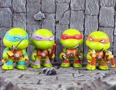 4 mini teenage #mutant ninja #turtles action #figures toys set of tmnt collection,  View more on the LINK: 	http://www.zeppy.io/product/gb/2/231966435776/