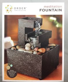 Order Home Collection Meditation Fountain. Type NEW in box Fountains For Sale, Mini Waterfall, Home Collections, Meditation, Home And Garden, Type 3, Friends, Box, Fonts