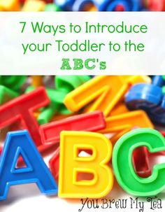 Easily teach your toddlers their ABC's with these simple methods!  Great preschool homeschool ideas in this post!