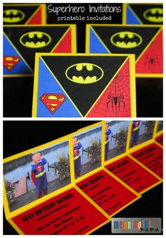 My son just had his third birthday, and what better way to celebrate for a little boy than with superheroes? Today I get to bring you the superhero invitations - printable included. I like to create the printable for you with a full tutorial so that you are not just seeing what we did but can re-create any pieces you want to re-create for your own party.