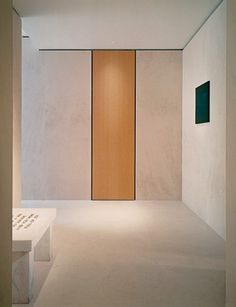 The serene entrance to the Tribeca penthouse created by architect Sam Trimble for Kevin Roberts, CEO worldwide of Saatchi & Saatch