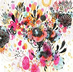 Fantastic pop of colours. Ink and Water Colours - so Beautiful
