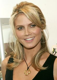 Heidi Klum - love the hair style for in-between growing out.