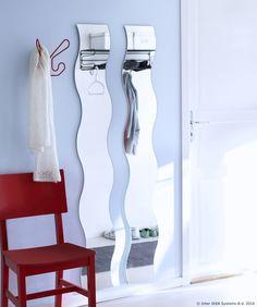 KRABB je veliko ogledalo valovitog oblika koje dobro izgleda u svakoj prostoriji. :) www.IKEA.hr/KRABB_ogledalo