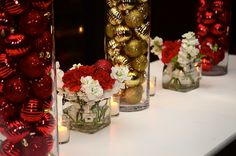 Jillian + Andrew: Christmas Holiday Wedding Reception The Sunset Room Christmas Wedding Pictures, Christmas Wedding Decorations, Wedding Images, Wedding Table, Wedding Blog, Wedding Reception, Our Wedding, Wedding Ideas, Royal Christmas