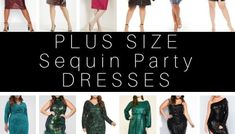 27 Plus Size Sequin Dresses {with Sleeves} - Alexa Webb Sequin Dress With Sleeves, Plus Size Sequin Dresses, Party Dresses With Sleeves, Plus Size Formal Dresses, Prom Dresses, Dresses For Apple Shape, Sequin Party Dress, Plus Size Shopping, Perfect Party