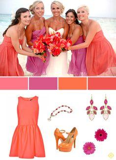 Real_Weddings_Bridal_Color_Palette_Pink_Coral  Coral color palette