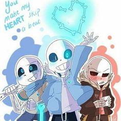 Sans, Edgy and Blue! Sans AU. Edgy Underfell. Blue Underswap. Sans Undertale!❤️