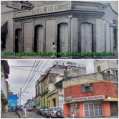 Esquina de Amadores 1956: Lugar donde falleció el Dr. José Gregorio Hernández, tal como se veía hace 59 años.
