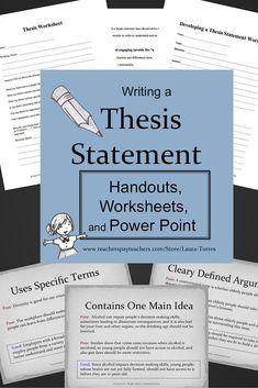 thesis statement includes