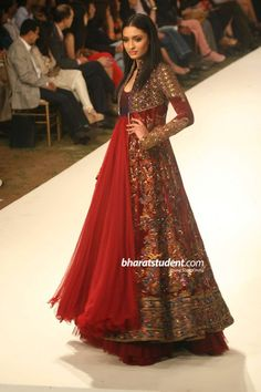 Rohit Bal lengha with long coat (LIFW 2012)