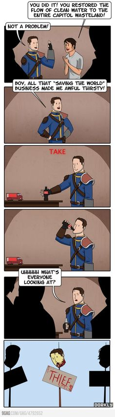Fallout Logic. Thank you! Oh my freaking gosh. And then you lose karma.