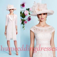 Wholesale Mother Of Bride Dresses - Buy 2015 Sheath Mother Of Bride Dresses Off-The-Shoulder Cap Sleeves With Jacket Lace Knee Length For Evening Dress Mothers' Suits 991024, $124.21 | DHgate.com