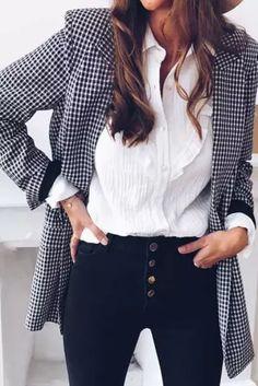 Women Casual Jacket Tops Plaid Coat Slim Cardigan Outwear Overcoat Fashion Women Office Lady Elegant Coat - #coatsforwomen #coatsforwomenwinter #coatsforwomencasual #coatsforwomenclassy #coatsforwomenclassyelegant #coatsjackets #coatsjacketswomen #coatsforwomen2020 #coatsforwomen2020fashiontrends #streettide Plaid Coat, Fashion Women, Fashion Trends, Office Ladies, Coats For Women, Slim, Elegant, Lady, Casual