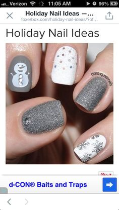 Cute holiday nails! Preferably not the snowman