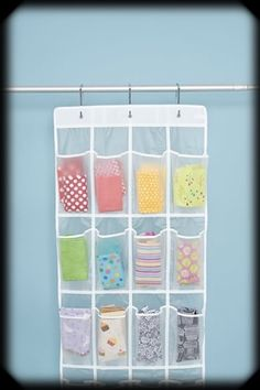 Sort scrap fabric by color - Many uses for over the door shoe organizers