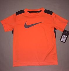Boys Nike Dri Fit Swoosh Shirt Size 4 4t Orange Nwt